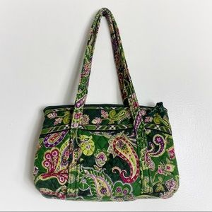 Vera Bradley Quilted Forest Green Boho Handbag